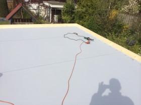 Nieuwe kunststof dakbedekking gemonteerd in Glanerbrug